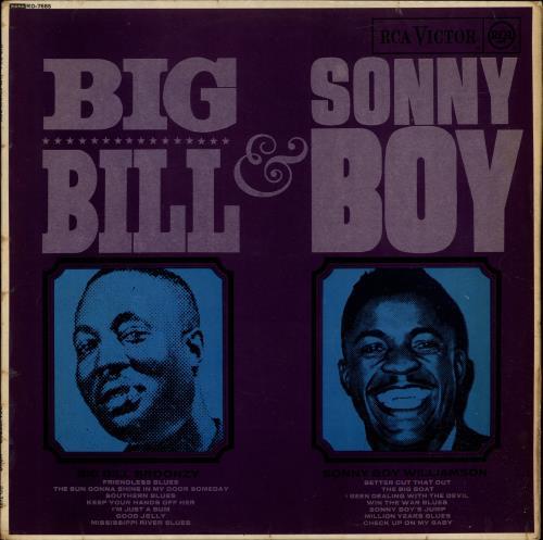Big Bill Broonzy Big Bill & Sonny Boy vinyl LP album (LP record) UK BGZLPBI256338