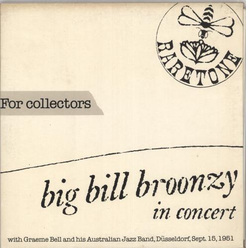 Big Bill Broonzy In Concert - Düsseldorf, Sept. 15, 1951 2-LP vinyl record set (Double Album) Italian BGZ2LIN730671