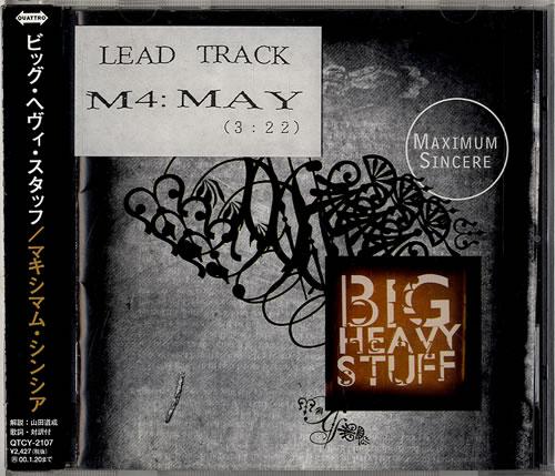 Big Heavy Stuff Maximum Sincere CD album (CDLP) Japanese E5GCDMA590679