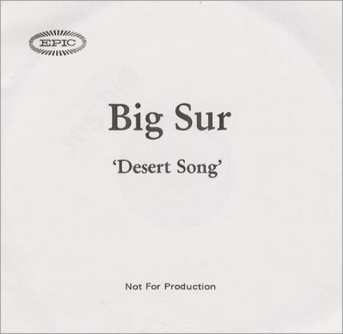 Big Sur Desert Song CD-R acetate UK IURCRDE190599