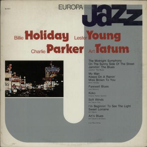 Billie Holiday Europa Jazz vinyl LP album (LP record) Italian B/HLPEU654834