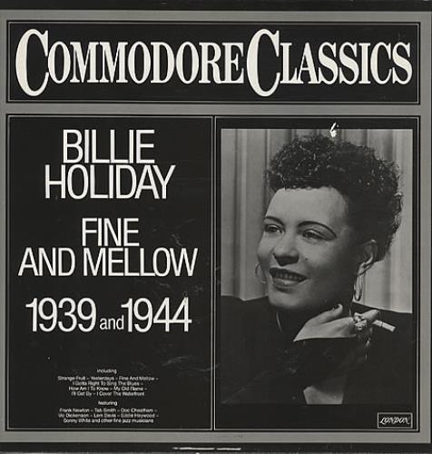 Billie Holiday Fine And Mellow vinyl LP album (LP record) German B/HLPFI330583