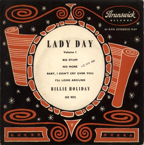 "Billie Holiday Lady Day, Volume 1 EP 7"" vinyl single (7 inch record) UK B/H07LA700702"