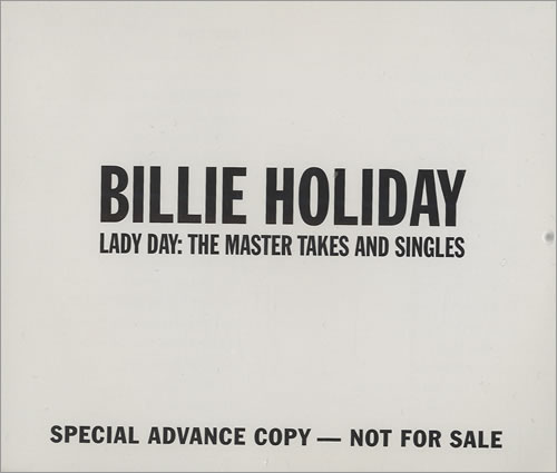 Billie Holiday Lady Day: The Master Takes And Singles 4-CD album set US B/H4CLA492950