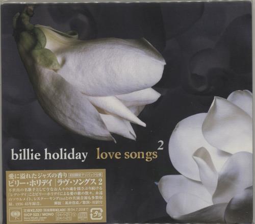 Billie Holiday Love Songs 2 CD album (CDLP) Japanese B/HCDLO685505