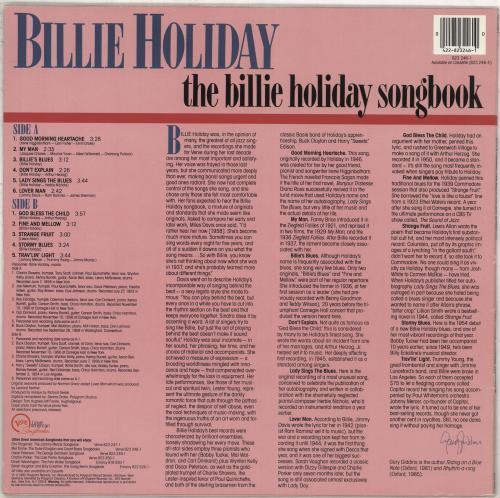 Billie Holiday The Billie Holiday Songbook vinyl LP album (LP record) UK B/HLPTH710215