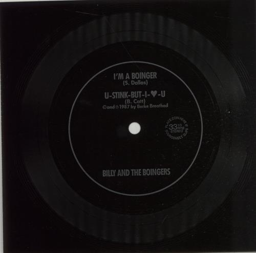 """Billy And The Boingers I'm A Boinger 7"""" vinyl single (7 inch record) US I5407IM670987"""