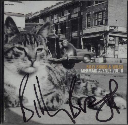 Billy Bragg Mermaid Avenue Vol. II - Autographed CD album (CDLP) German BBRCDME182886