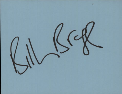 Billy Bragg Page Of Autograph Book memorabilia UK BBRMMPA601517