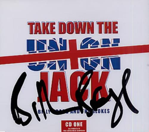 "Billy Bragg Take Down The Union Jack CD1 - Autographed! CD single (CD5 / 5"") UK BBRC5TA333550"