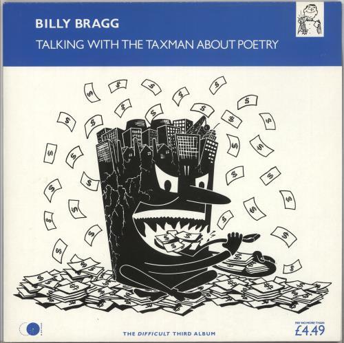 Billy Bragg Talking With The Taxman About Poetry vinyl LP album (LP record) UK BBRLPTA693656