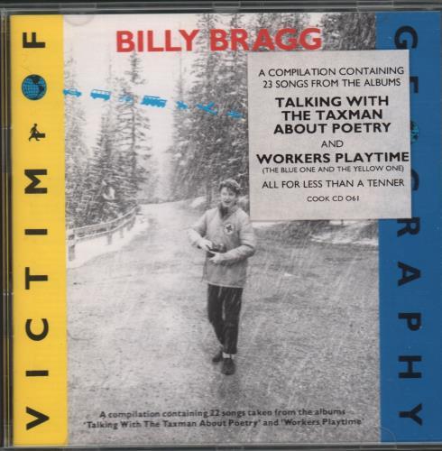 Billy Bragg Victim Of Geography CD album (CDLP) UK BBRCDVI671783