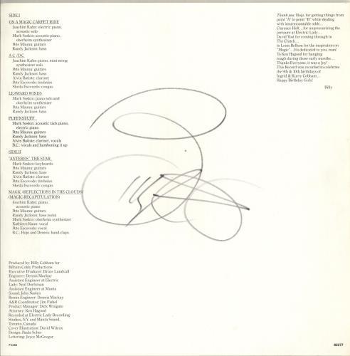Billy Cobham Magic - Autographed vinyl LP album (LP record) UK BYHLPMA718204