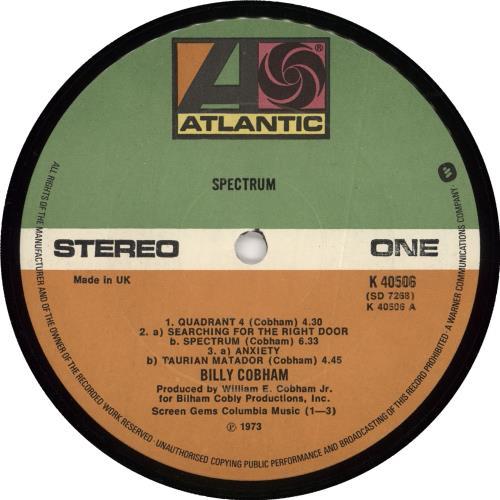 Billy Cobham Spectrum vinyl LP album (LP record) UK BYHLPSP251779