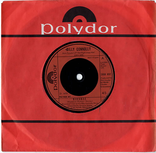 "Billy Connolly D.I.V.O.R.C.E. 7"" vinyl single (7 inch record) UK BCL07DI610323"