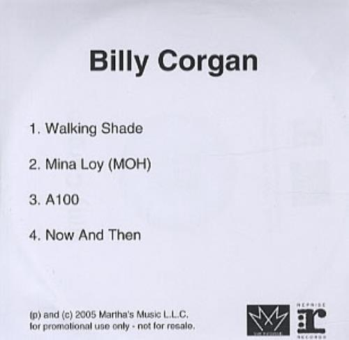 Billy Corgan Billy Corgan - TheFutureEmbrace Sampler CD-R acetate UK BGNCRBI331138
