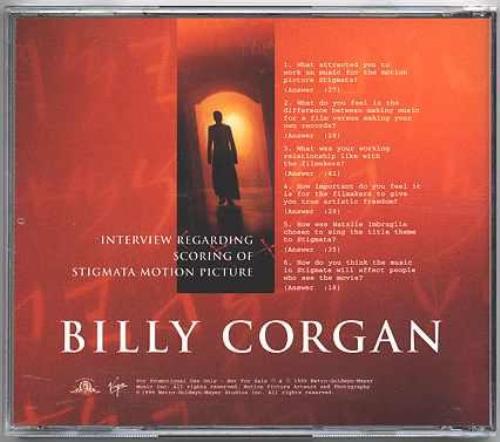Billy Corgan Interview Regarding Scoring Of Stigmata Motion Picture CD album (CDLP) US BGNCDIN146374