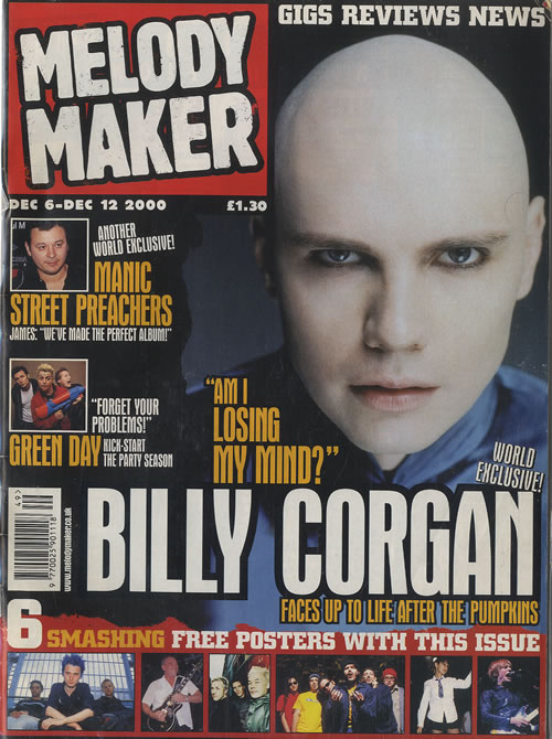 Billy Corgan Melody Maker - December 2000 magazine UK BGNMAME448060