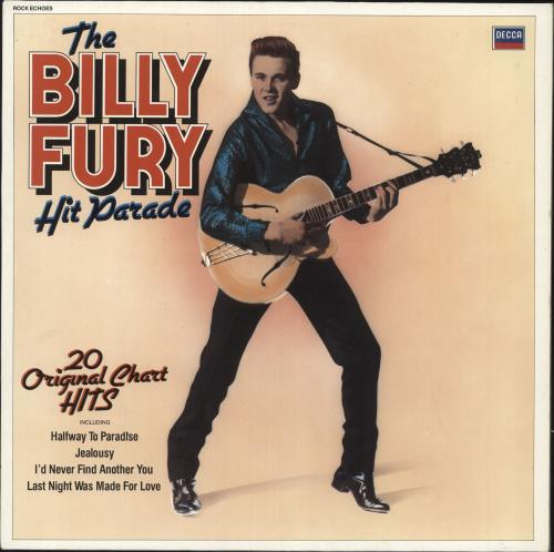 Billy Fury The Billy Fury Hit Parade Uk Vinyl Lp Album Lp