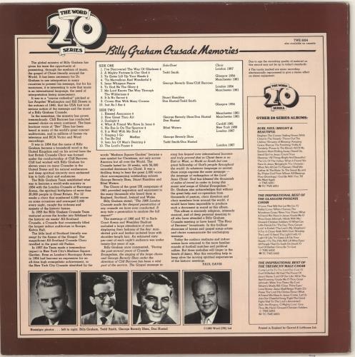 Billy Graham Billy Graham Crusade Memories vinyl LP album (LP record) UK ZXNLPBI721136
