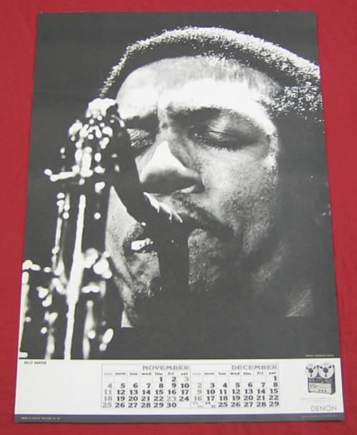 Billy Harper Denon Calendar Poster poster Japanese BH0PODE359764
