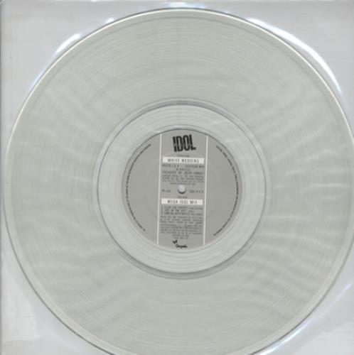 Billy Idol White Wedding Clear Vinyl Pvc Sleeve Uk 12 Vinyl