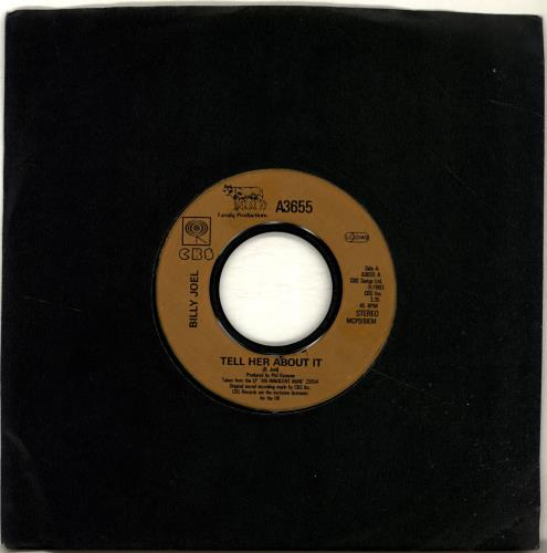 """Billy Joel Tell Her About It 7"""" vinyl single (7 inch record) UK BLY07TE691373"""