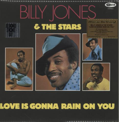 Billy Jones Love Is Gonna Rain On You - RSD 2020 - 180 Gram Yellow Vinyl vinyl LP album (LP record) UK 2NSLPLO757394