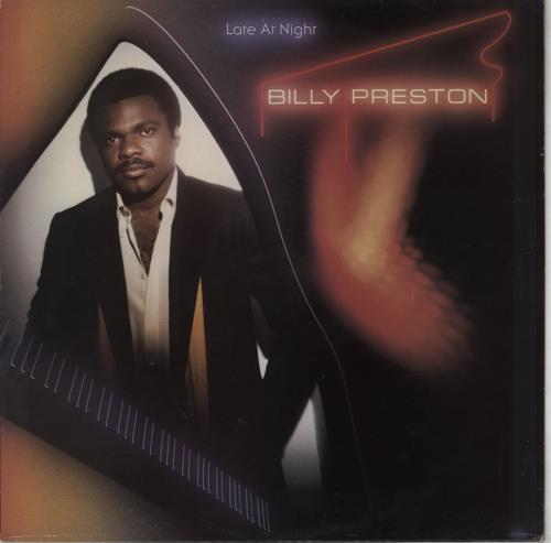 Billy Preston Late At Night - Gold promo stamped vinyl LP album (LP record) UK BIPLPLA754011