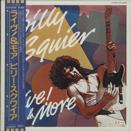 "Billy Squier Live! & More 12"" vinyl single (12 inch record / Maxi-single) Japanese BSQ12LI645510"