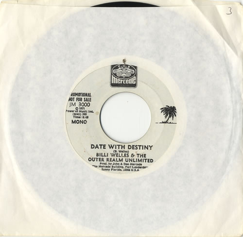 "Billy Welles Date With Destiny 7"" vinyl single (7 inch record) US EKQ07DA574901"