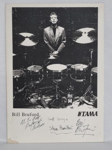 Bill Bruford Bill Bruford's Earthworks Band - Signed memorabilia UK BFOMMBI705594