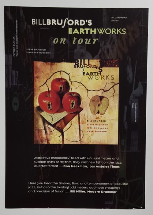 Bill Bruford Earth Works On Tour - Autographed memorabilia UK BFOMMEA634255
