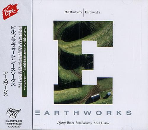 Bill Bruford Earthworks CD album (CDLP) Japanese BFOCDEA590986