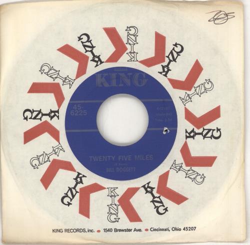 "Bill Doggett Twenty Five Miles 7"" vinyl single (7 inch record) US BTJ07TW712022"