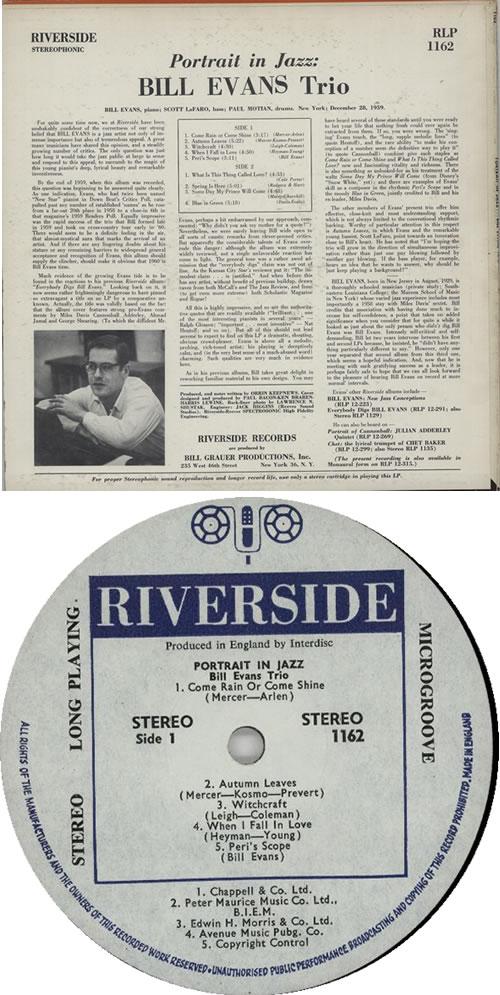 Bill Evans (Piano) Portrait In Jazz vinyl LP album (LP record) UK BLVLPPO615634