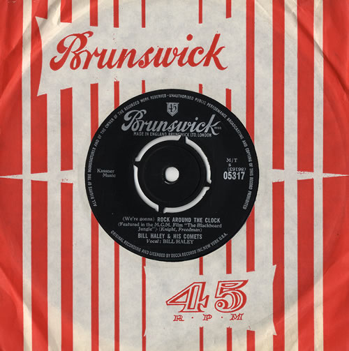 """Bill Haley & The Comets (We're Gonna) Rock Around The Clock 7"""" vinyl single (7 inch record) UK BHY07WE479676"""