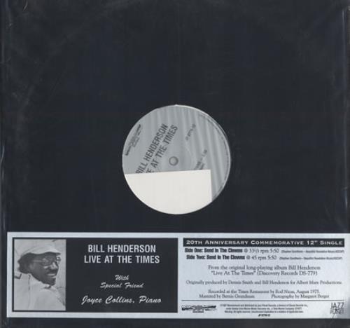 "Bill Henderson Send In The Clowns - 180gm 12"" vinyl single (12 inch record / Maxi-single) US BH912SE400562"
