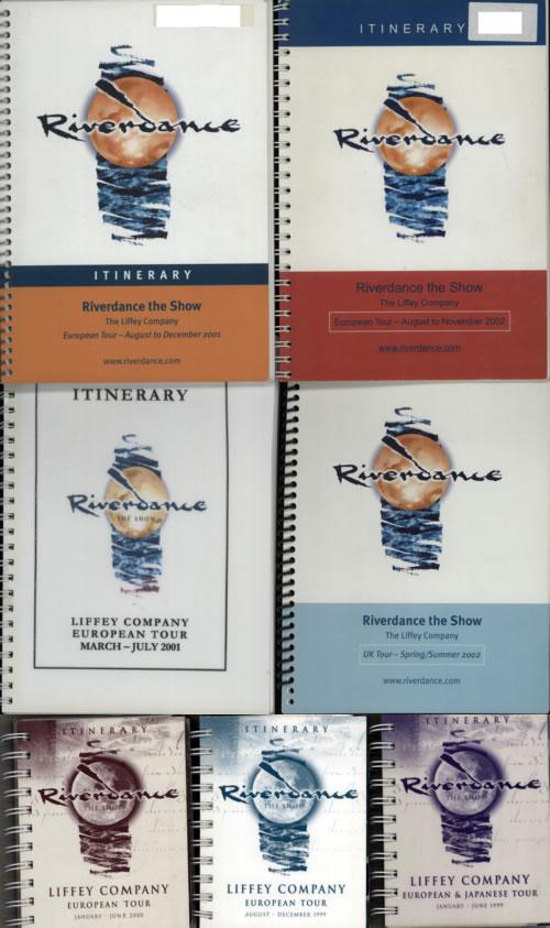 Bill Whelan Riverdance - Quantity Of Eight Tour Itinerary Books Itinerary UK BXLITRI614083