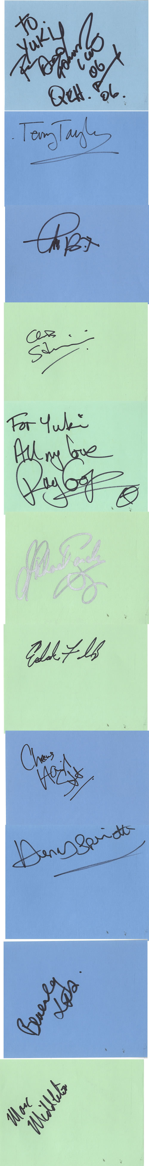 Bill Wyman Pages From Autograph Books memorabilia UK WYMMMPA603451