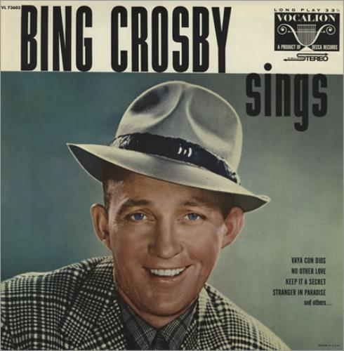 Bing Crosby Bing Crosby Sings vinyl LP album (LP record) US BNGLPBI394902