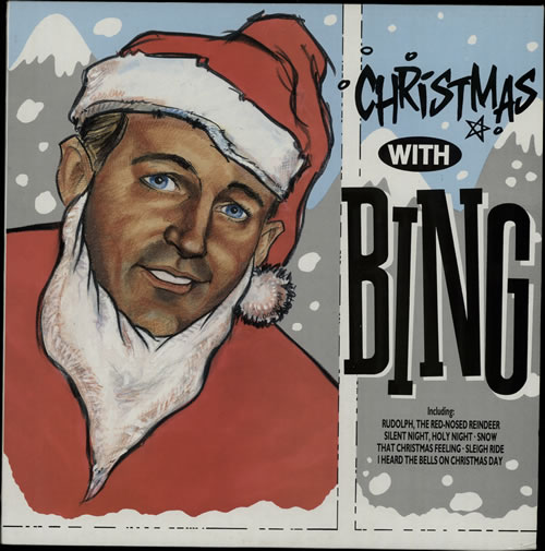 BING CROSBY Christmas With Bing (1989 UK 20-track compilation LP featuring festive favourites fashioned between 1942 & 1955, picture sleeve.