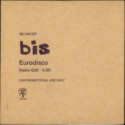 "Bis Eurodisco CD single (CD5 / 5"") UK BISC5EU124283"