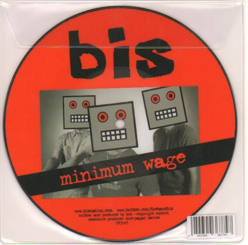 "Bis Minimum Wage 7"" vinyl single (7 inch record) UK BIS07MI658181"