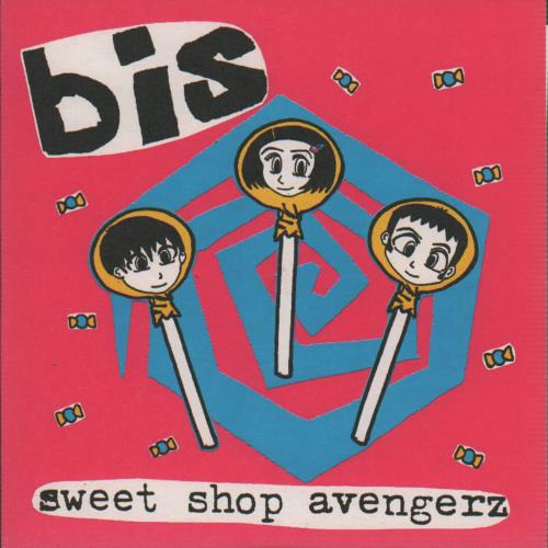 "Bis Sweet Shop Avengerz EP + Insert 7"" vinyl single (7 inch record) UK BIS07SW644972"