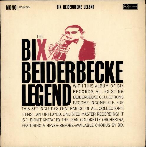 Bix Beiderbecke The Bix Beiderbecke Legend vinyl LP album (LP record) UK BB-LPTH694733