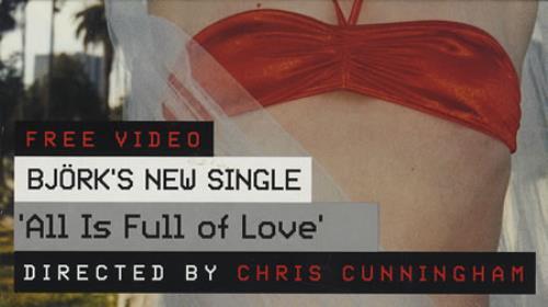 Björk All Is Full Of Love video (VHS or PAL or NTSC) UK BJKVIAL155201