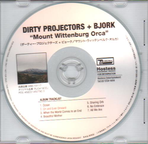 Björk Mount Wittenberg Orca CD-R acetate Japanese BJKCRMO634842