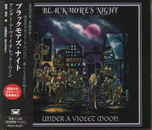 Blackmore's Night Under A Violet Moon CD album (CDLP) Japanese BN-CDUN160392