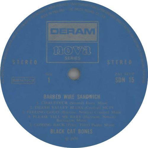 Black Cat Bones Barbed Wire Sandwich - 1st - VG+ vinyl LP album (LP record) UK BC-LPBA606534
